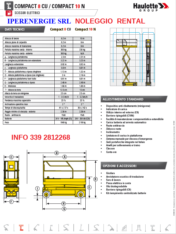 AREA LAVORO HAULOTTE COMPACT 8-10